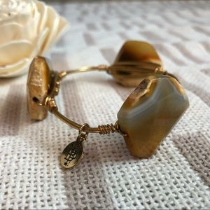 B&B Stone Gold Wire Wrap Bracelet